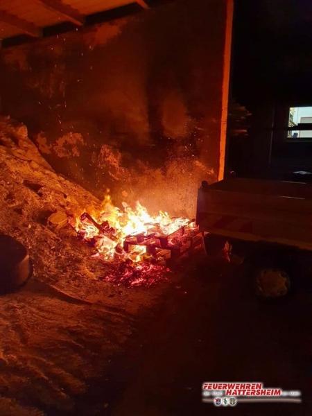 Feuer im Lagerbereich des Bauhofs