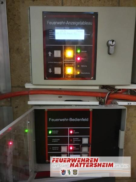 Feuerwehrbedienfeld der BMA