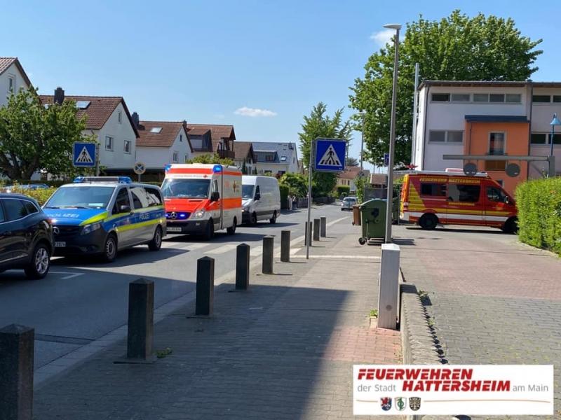 Einsatzfahrzeuge in der Friedrich-Ebert-Straße