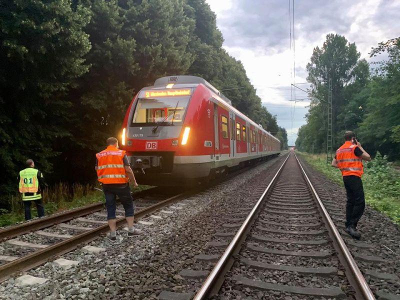 Einsatzstelle etwa Bahnkilometer 16