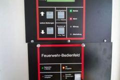 Feuerwehrbedientafel der Brandmeldeanlage