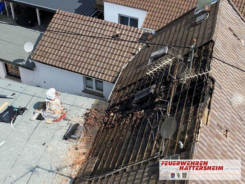 Luftaufnahmen der Schadensstelle