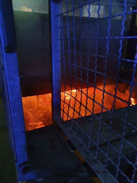 Feuer im Müllcontainer