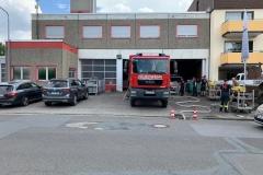 Reinigungsarbeiten bei der Feuerwehr in Hattersheim