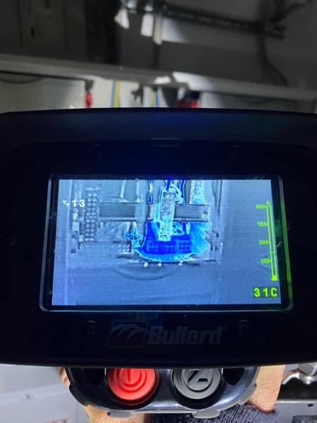 Kontrolle mit der Wärmebildkamera