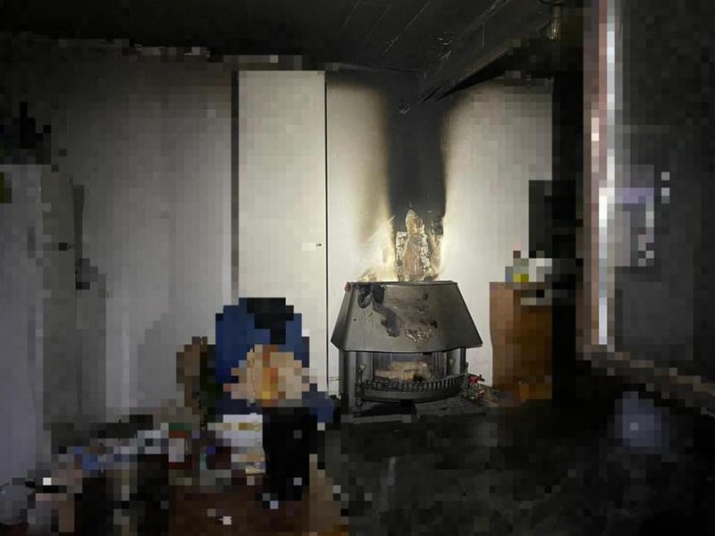 Entstehungsort des Feuers, die Bewohner konnten dieses noch rechtzeitig löschen